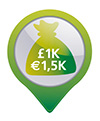 €1,000 cash protection or €10,000 valuables