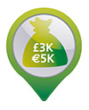 €3,000 cash protection or €30,000 valuables