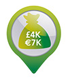 €4,000 cash protection or €40,000 valuables