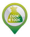 €60,000 cash protection or €600,000 valuables